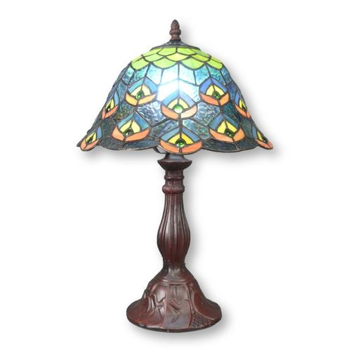 Lampe peacock style Tiffany