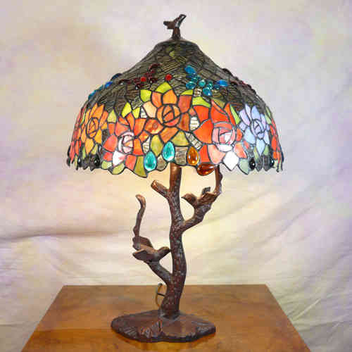 Tiffany lamp with birds