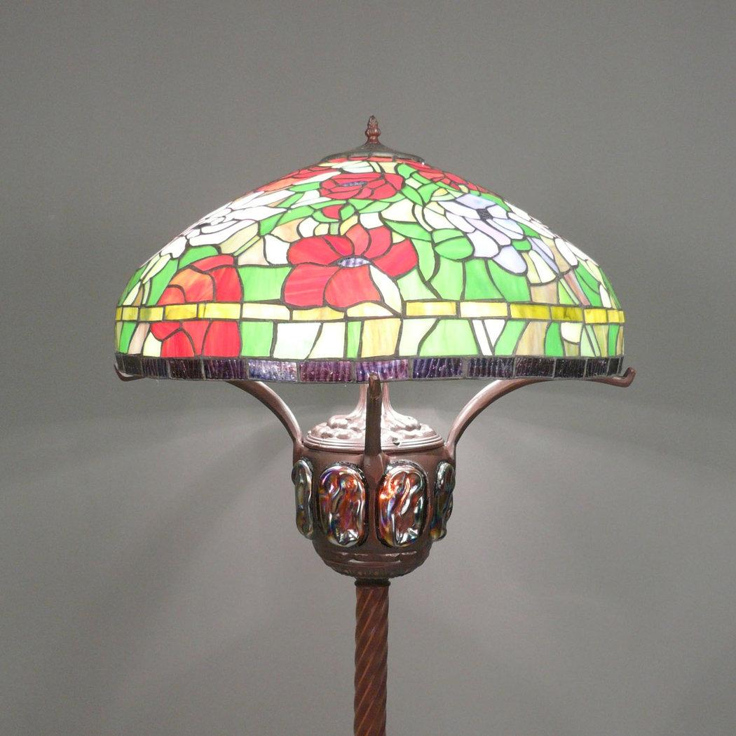 Lampadaire tiffany lampe meuble et chaise baroque - Meuble tiffany ...