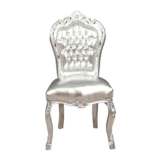 Baroque chair silver