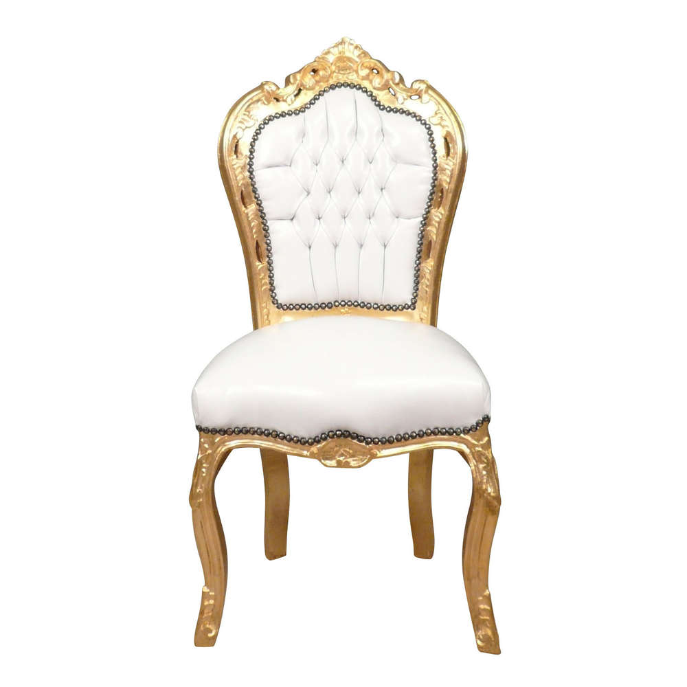 Chaise Baroque Blanche Et Or Canapé Baroque