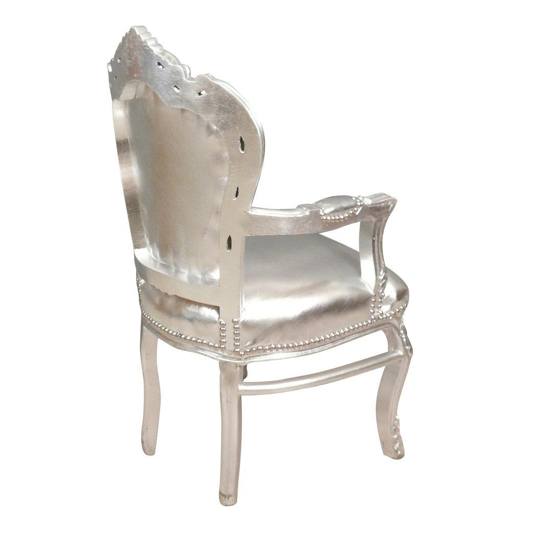 Fauteuil baroque argent meuble baroque for Meuble fauteuil