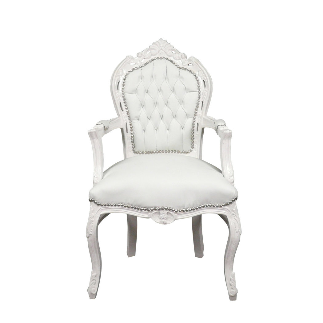 fauteuil baroque blanc chaises baroques. Black Bedroom Furniture Sets. Home Design Ideas
