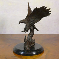 Bronze statues of birds