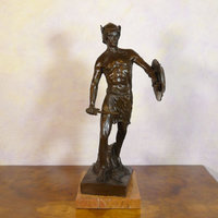 Bronze sculpture of men