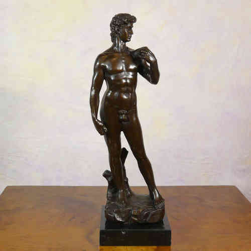 "Le ""David"" - Statue de la mythologie en bronze"