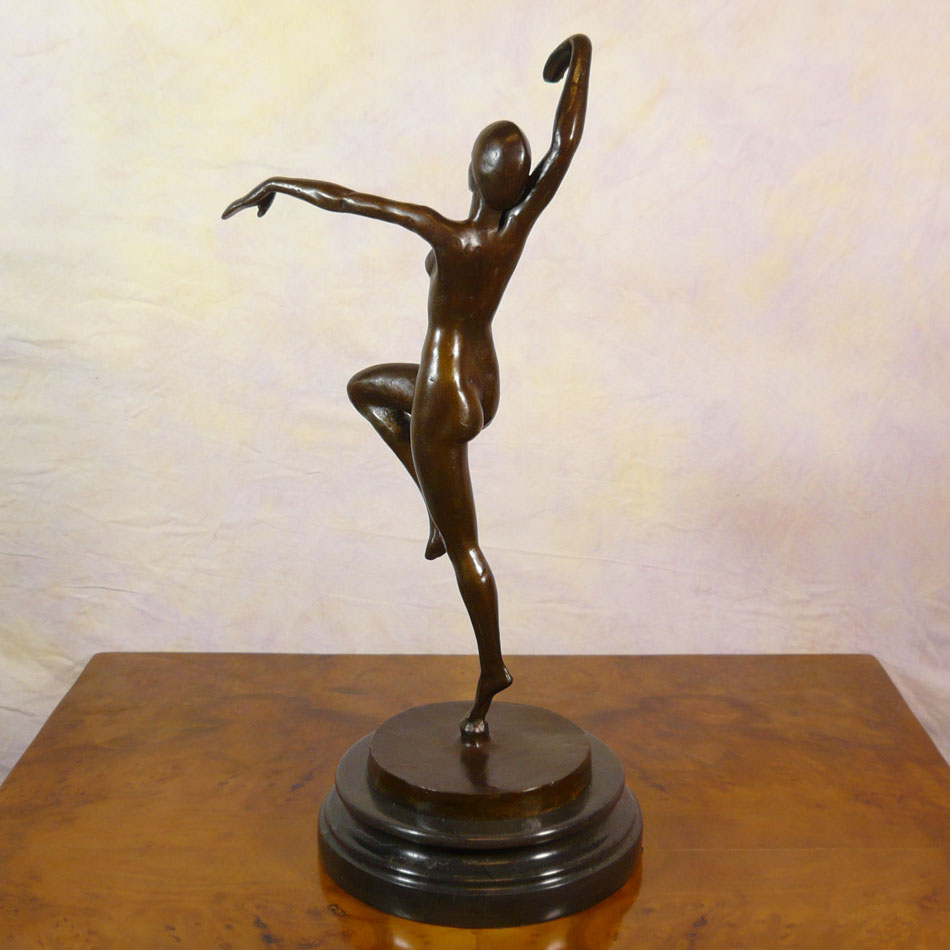 Dancer bronze statue bronze sculptures art deco for Statue deco jardin
