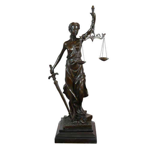 Themis Goddess of Justice - bronze sculpture