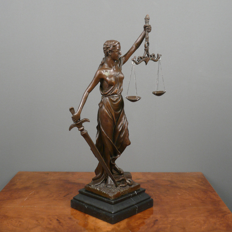 Themis Goddess of Justice bronze sculpture Bronze statue