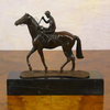 Equestrian bronze  statue - the jokey