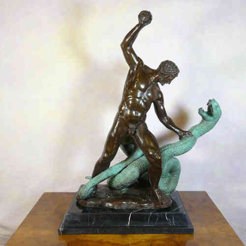 Hercules fighting Achelous - Bronze Statue