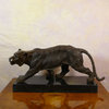 Walking the tiger - Bronze Art Deco