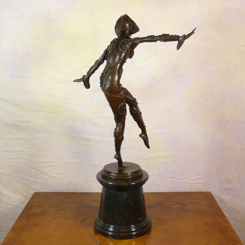 bronze statue of a dancer art deco sculptures. Black Bedroom Furniture Sets. Home Design Ideas