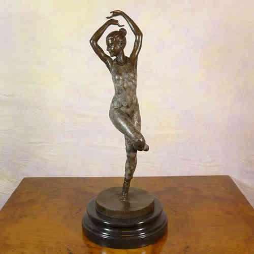 Art Deco Scultura in bronzo - Dancer