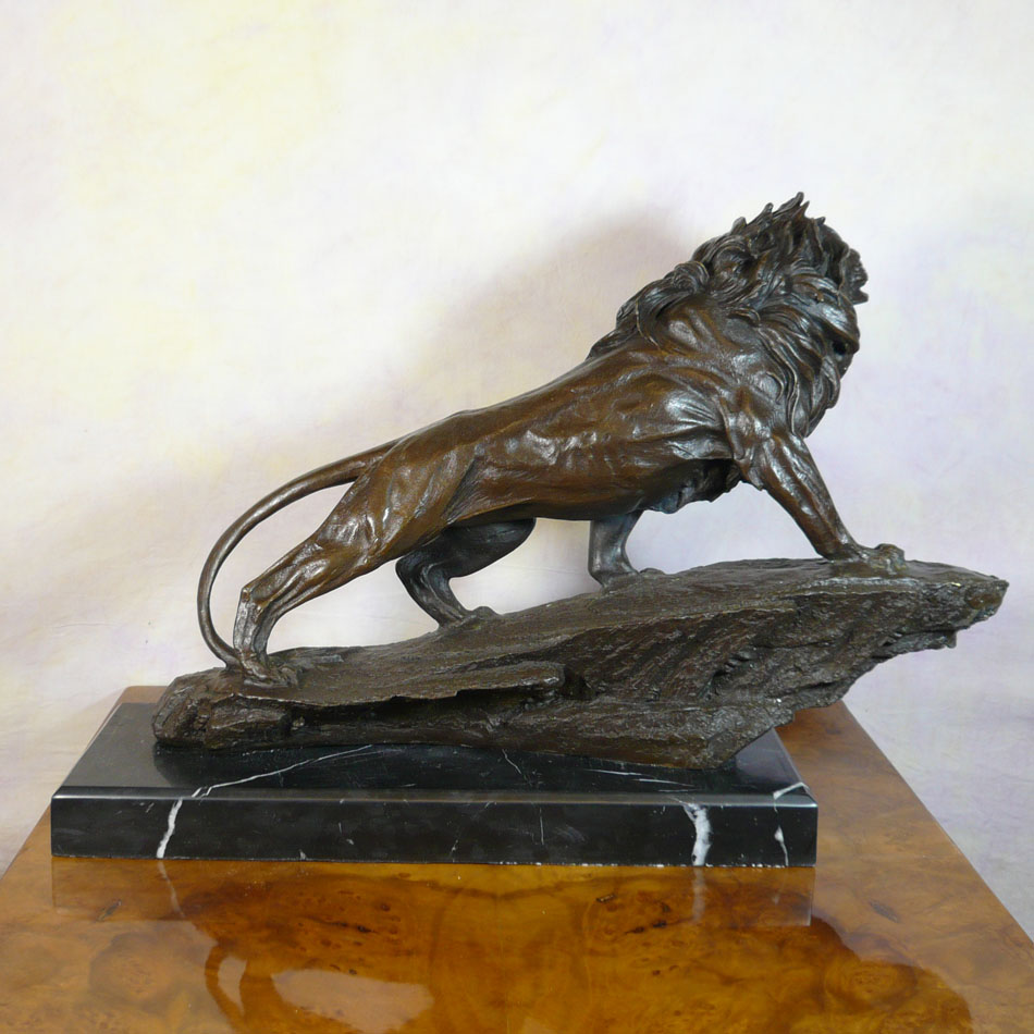 Bronze statue lion bronze statues animal bronzes reproductions of statues in bronze lost wax - Cheetah statues ...