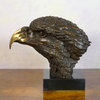 Eagle head on marble base - Bronze Statue