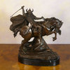 Viking warrior in combat - bronze statue