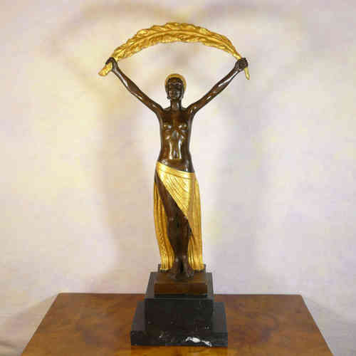 Art deco scultura in bronzo