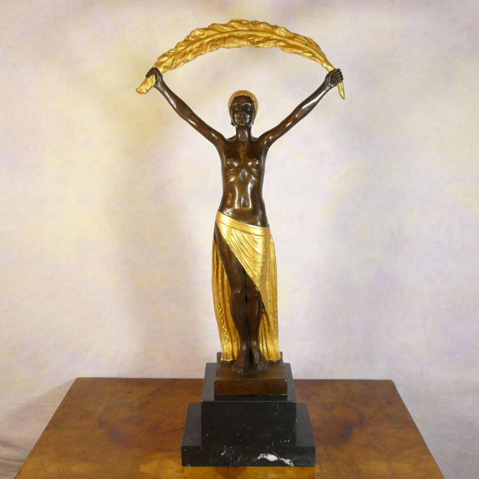 Art deco bronze sculpture statues for Art decoration fr
