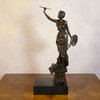 The woman artist - bronze sculpture