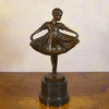 Young dancer - bronze statue