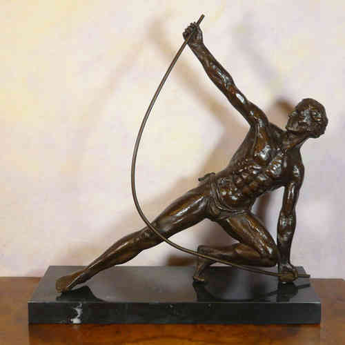 Le Bendeur - scultura bronze di art deco