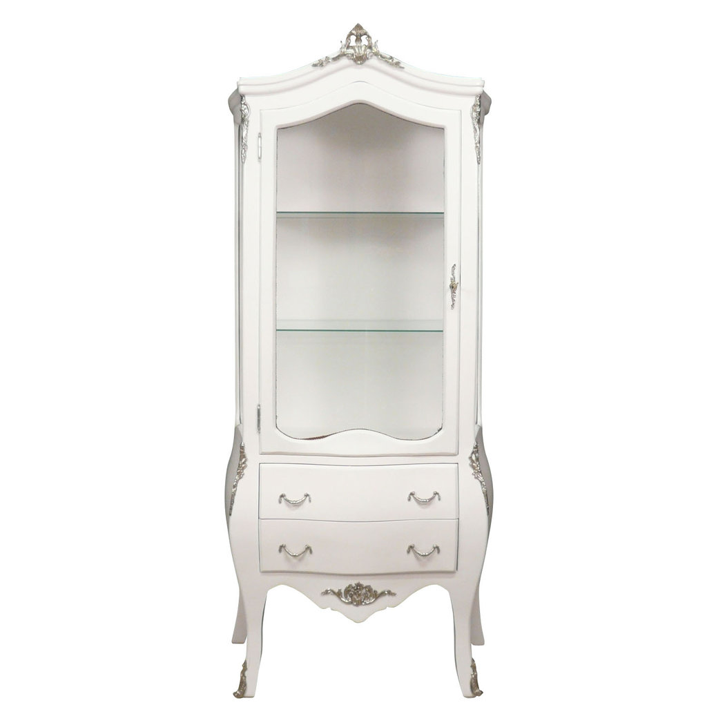 White Baroque vitrina