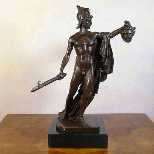 Perseus holding the head of Medusa - Bronze Statue