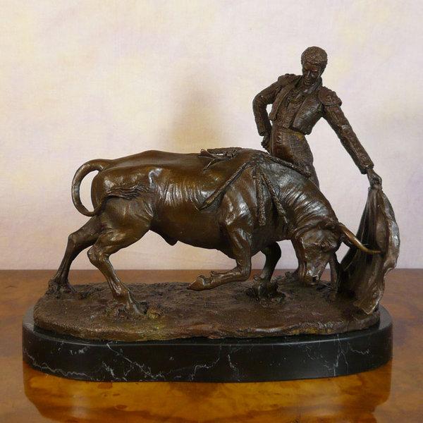 Bronze Sculpture Matador Statues And Art Deco Furniture