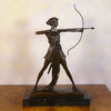 Bronze sculpture of the goddess Artemis