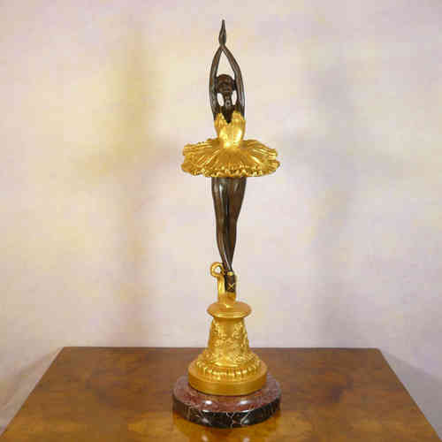 Art deco bronze statue - Dancer