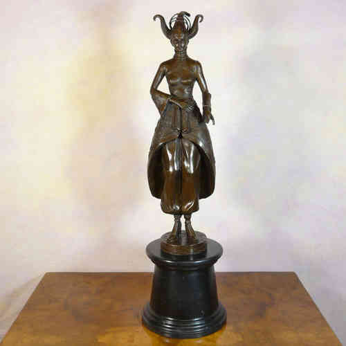 Bronze statue of a dancer - art deco bronze sculpture