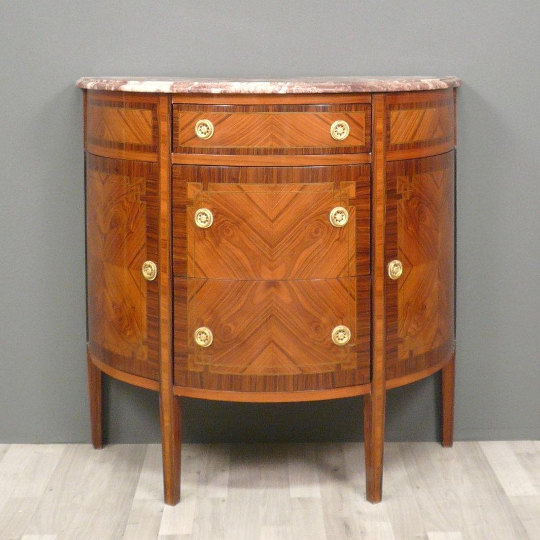commode louis xvi demie lune commodes de style. Black Bedroom Furniture Sets. Home Design Ideas