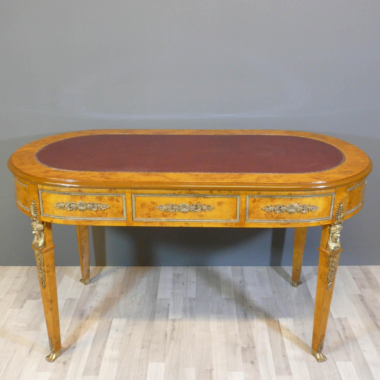 Bureau empire en loupe d 39 orme meuble de style louis xv for Meuble empire
