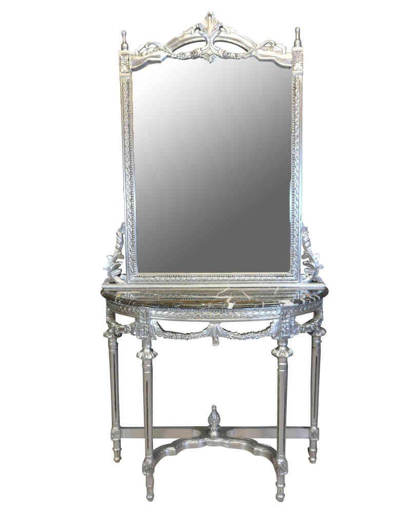Consolle con specchio barocco Luigi XVI - Poltrone