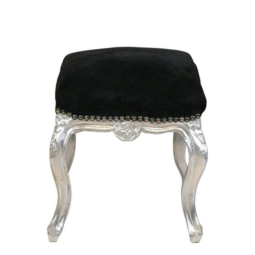 Pouffe baroque black