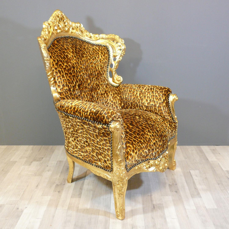 Baroque armchair leopard Chair
