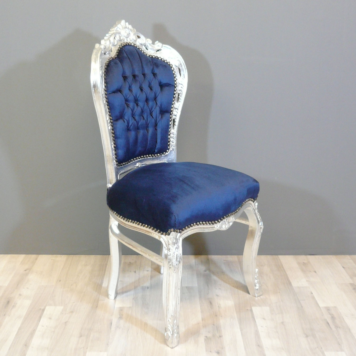 Baroque blue chair chairs baroque for Chaise baroque
