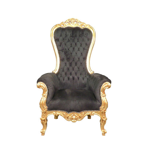 Black and gold baroque armchair