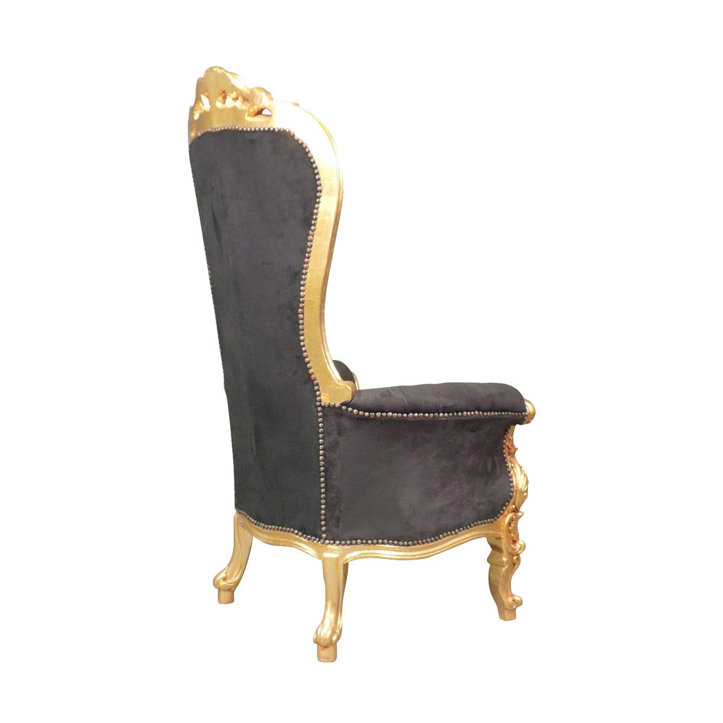 fauteuil baroque tr ne noir chaise baroque. Black Bedroom Furniture Sets. Home Design Ideas