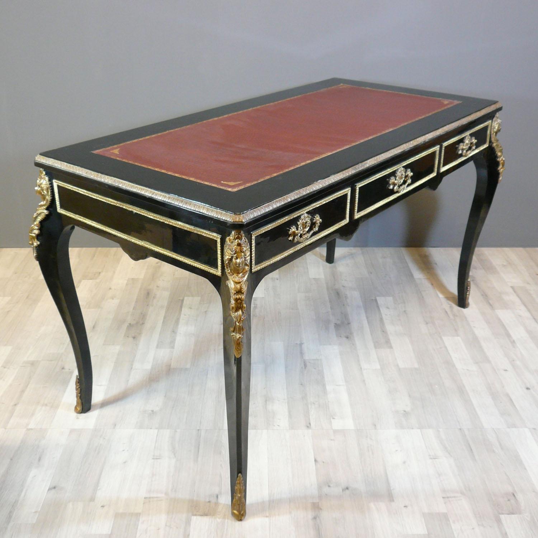 bureau louis xv de style boulle meubles louis xv. Black Bedroom Furniture Sets. Home Design Ideas