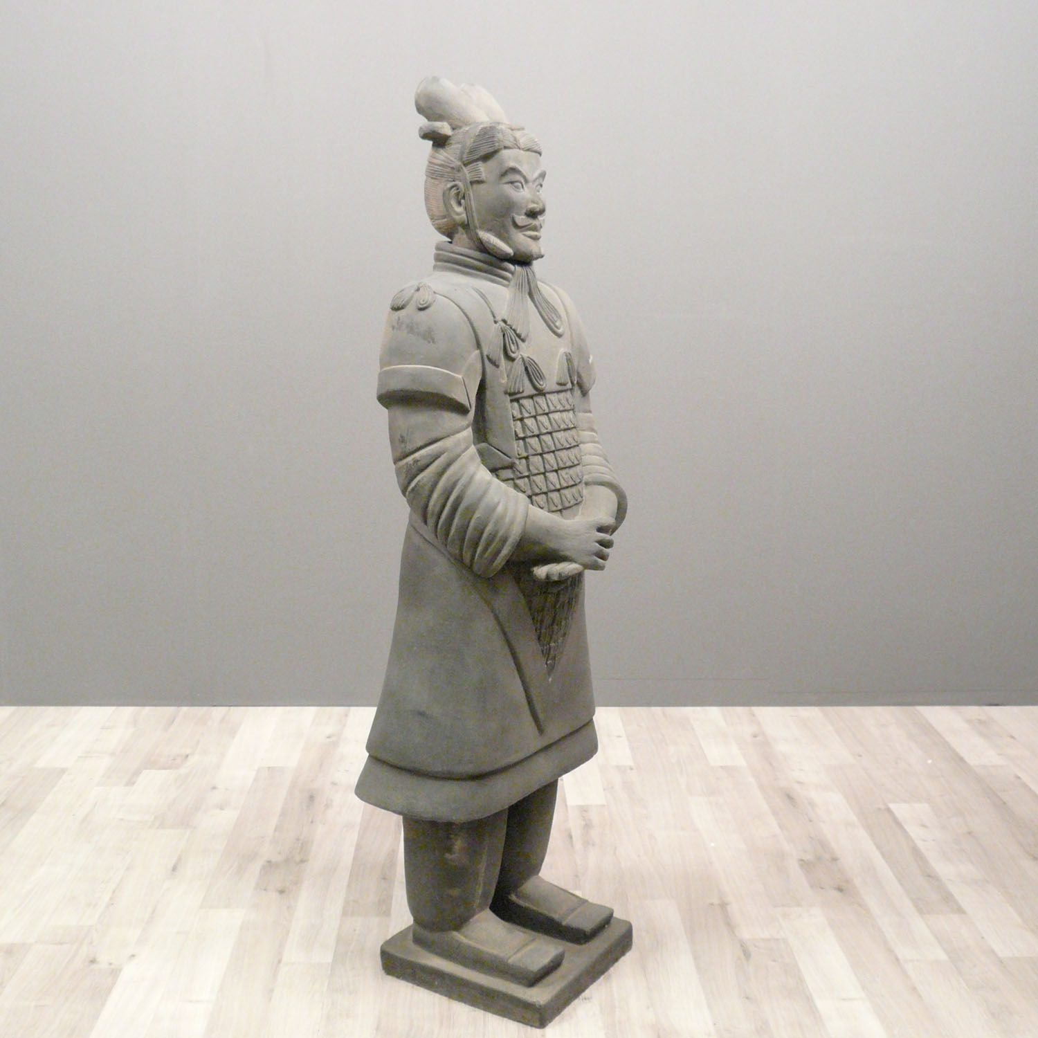 Statue Guerrier Chinois G 233 N 233 Ral 170 Cm Soldats Xian