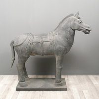 Statues of the horses of the army of the Emperor Qin Shi