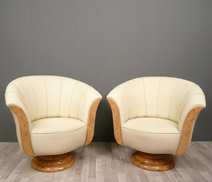 paire de fauteuils art deco meubles art d co. Black Bedroom Furniture Sets. Home Design Ideas