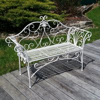 Wrought iron benches