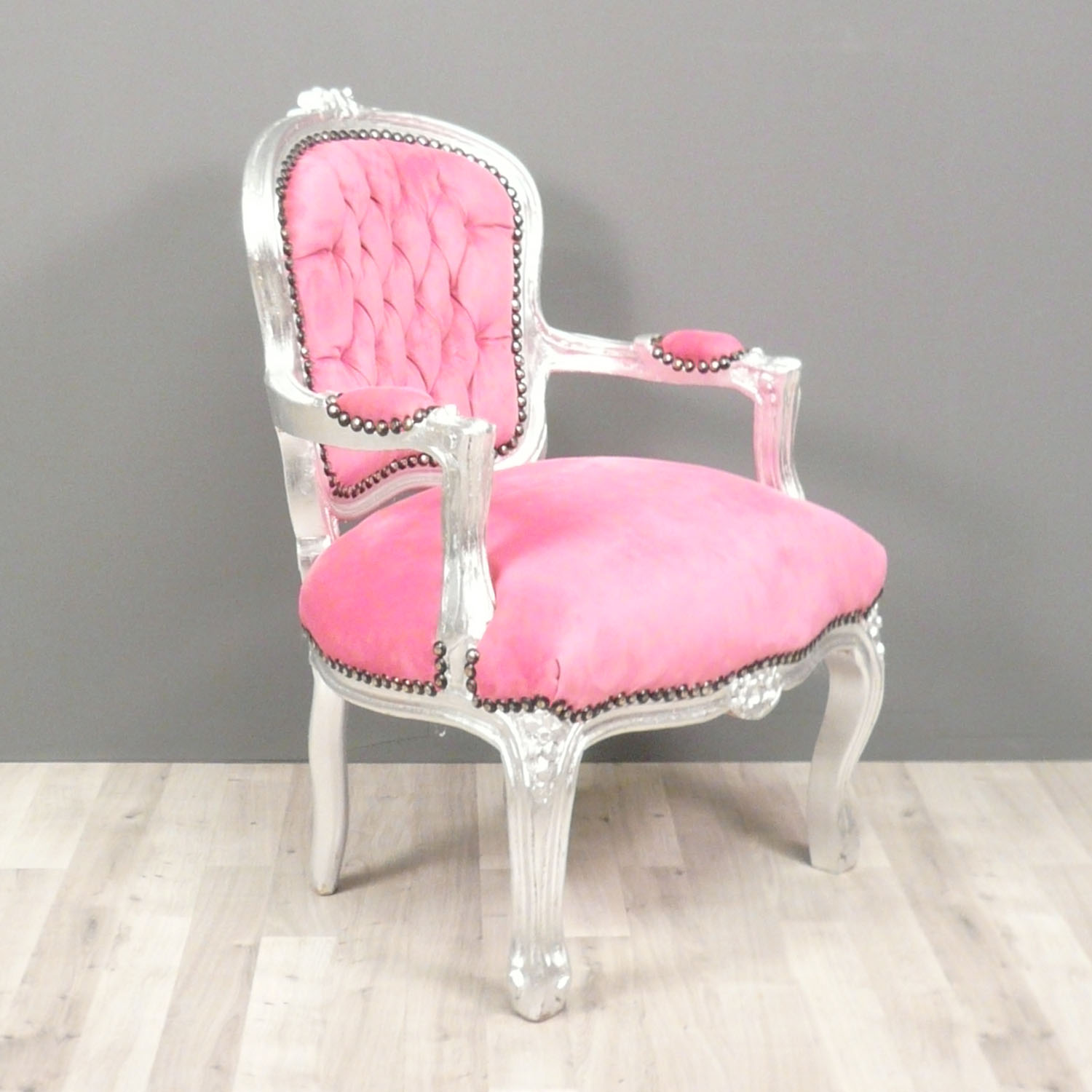 fauteuil louis xv enfant rose fauteuils chaises. Black Bedroom Furniture Sets. Home Design Ideas