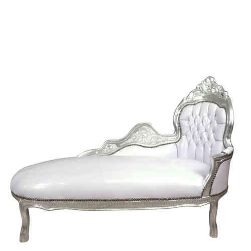 White baroque Chaise Lounge