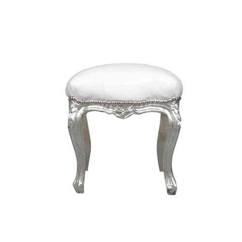 Pouffe baroque white