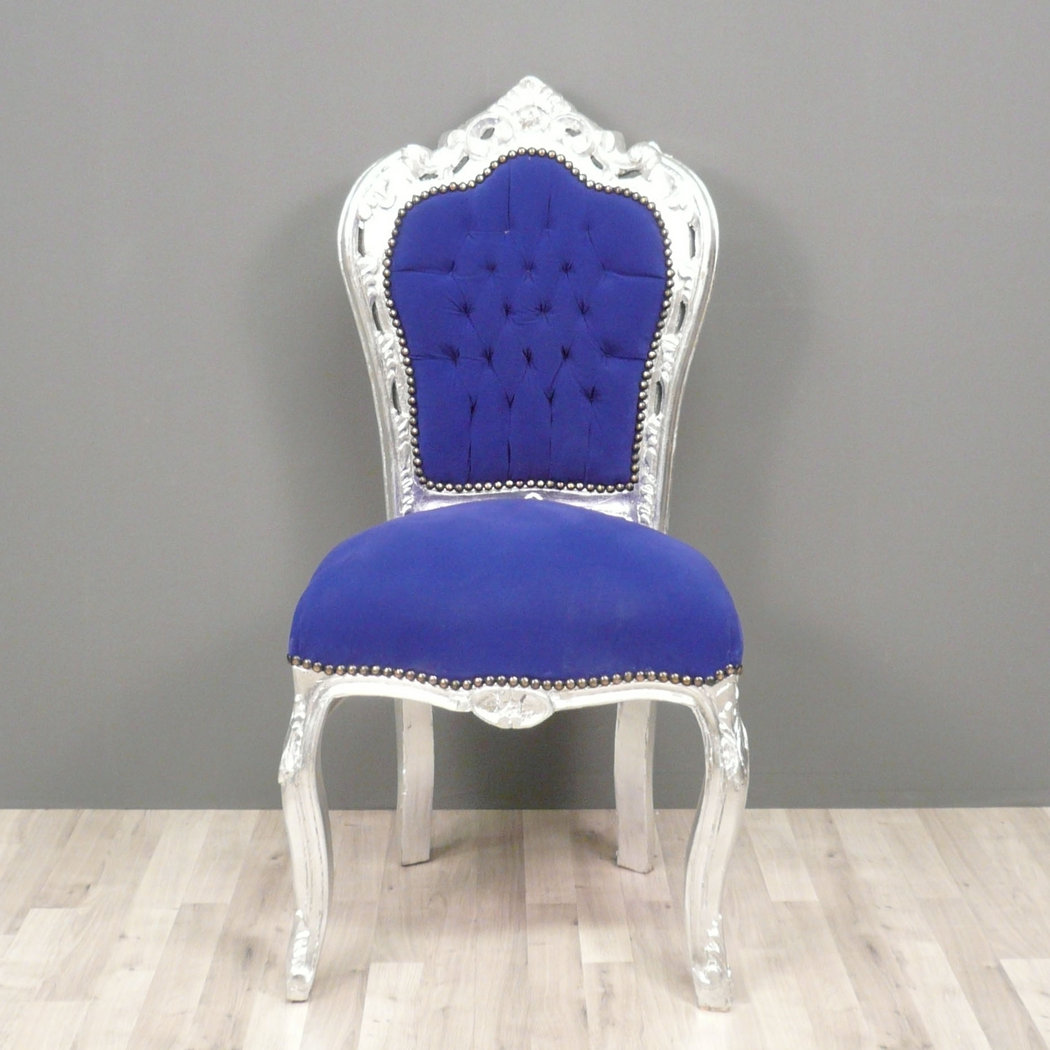 Baroque Blue Chair Chairs Baroque