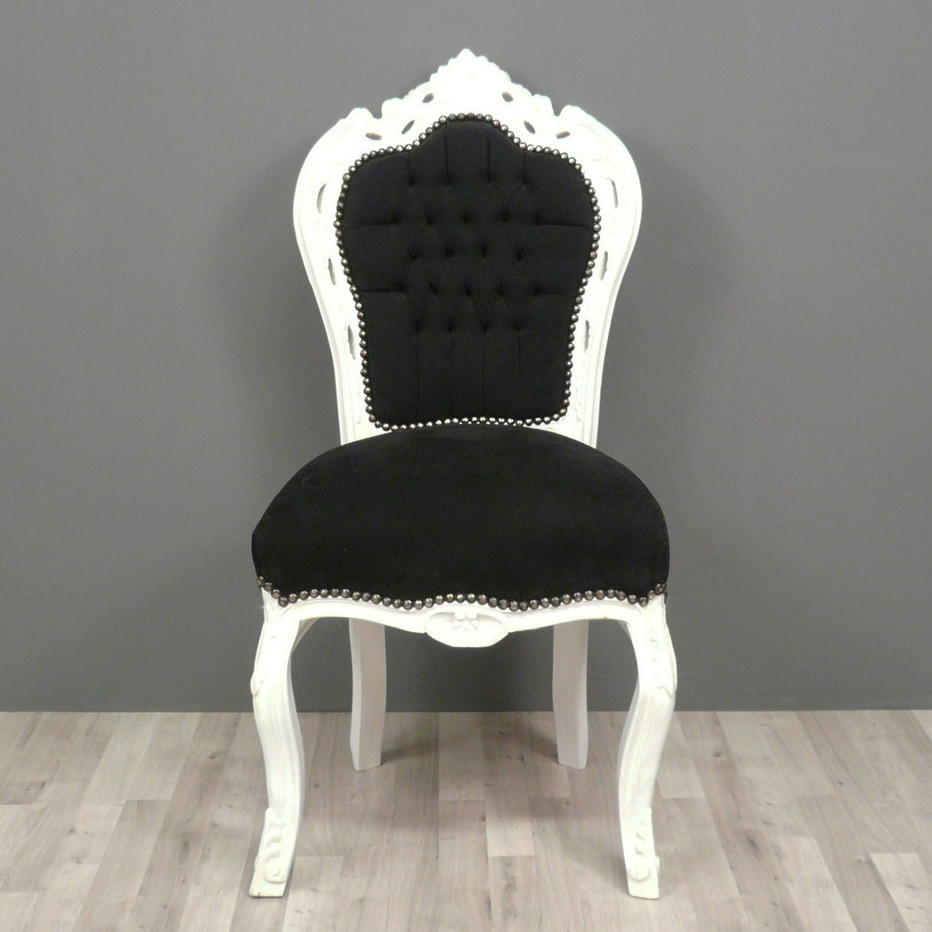 chaise baroque noire et blanche fauteuils baroques. Black Bedroom Furniture Sets. Home Design Ideas